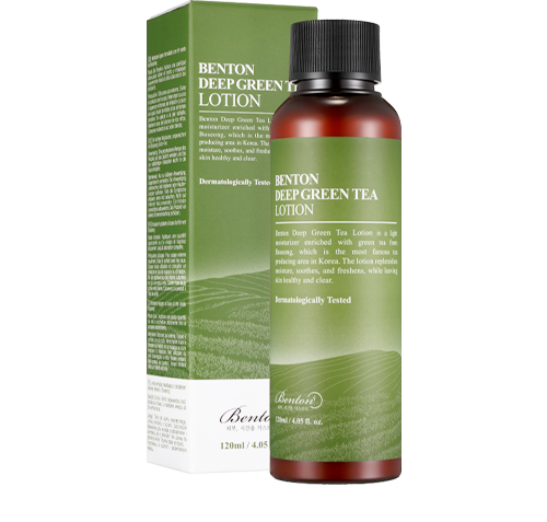 BENTON Deep Green Tea Lotion_use